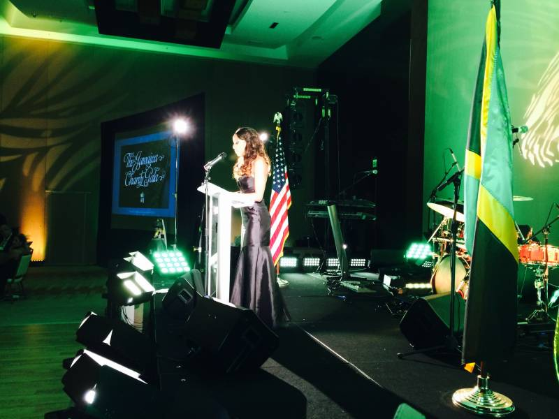 Stage lighting, master of ceremonies, with American Friends of Jamaica at Marriott Marquis, Miami, FL