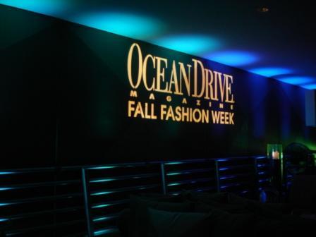 Corporate media lighting, with Ocean Drive Magazine & Perry Elllis, Miami Beach, FL