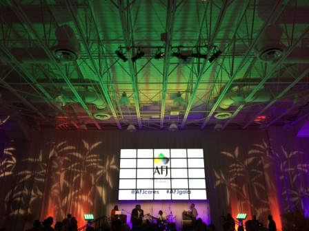 Corporate theatre lighting, with American Friends of Jamaica, at JW Marriott Marquis, Miami, FL