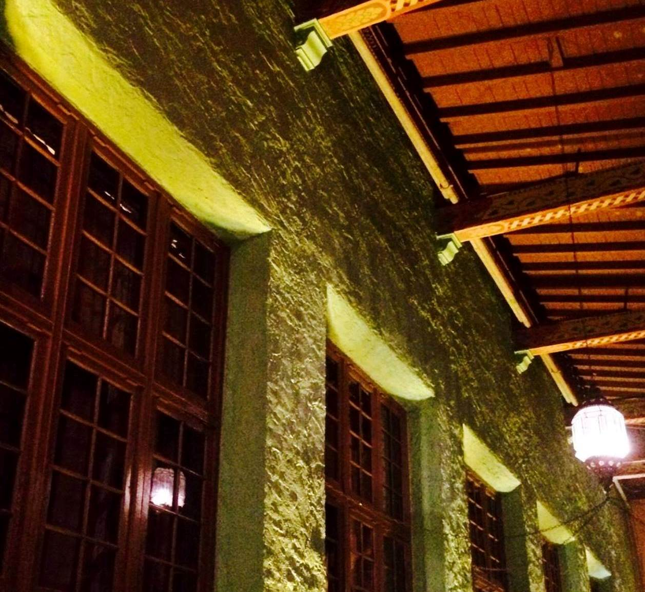 Uplighting, architectural, at historic Biltmore Golf & Country Club, Coral Gables, FL