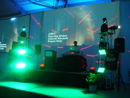 DJ party lighting, with VJ Tom Laroc and Boys & Girls Club of Collier County, Naples, FL