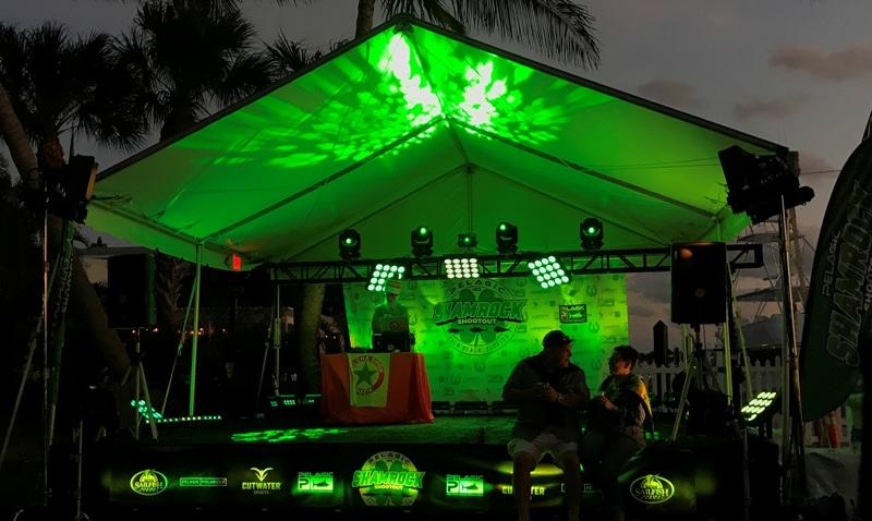 Lighting, party, DJ Lance-O, Sailfish Marina, Palm Beach Shores, FL