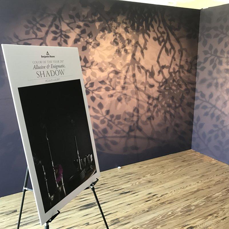 Exhibit lighting, Design on a Dime Miami 2017, with Benjamin Moore & Co., Miami, FL