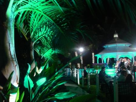 Lighting, gazebo, at Palms Hotel, Miami Beach, FL