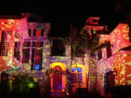 Lighting, Halloween celebration, at private residence, near Naples, FL
