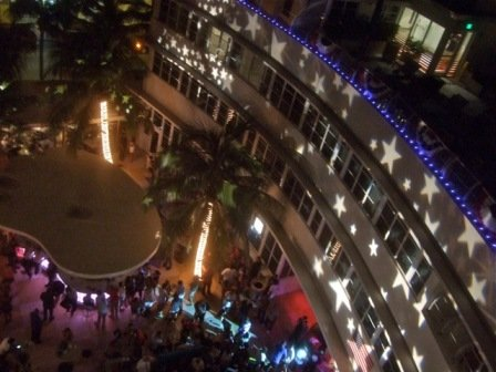 Lighting, national holiday, star-gobos, '4th of July', Clevelander Hotel, Miami Beach, FL