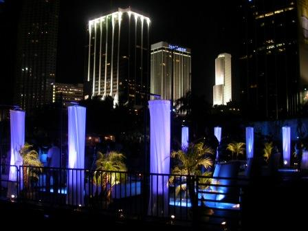 Uplighting, VIP-Lounge, LED, PepsiSmashLive, Bayfront Park, Miami, FL