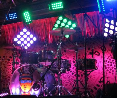 Lighting, LED, stage, with Locos Por Juana, at Gramps, Wynwood, FL