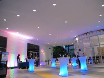 Lighting, fashion event, with Caribe Arts Fest, at Museum of Art, Ft Lauderdale, FL