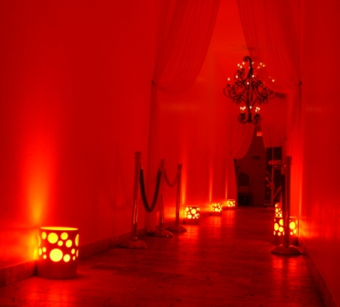 Lighting, LED-wireless, original decorative art luminaire, at Gemma Restaurant, Miami Beach, FL