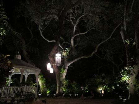 Lighting, home and garden, wedding, at private residence, Miami, FL