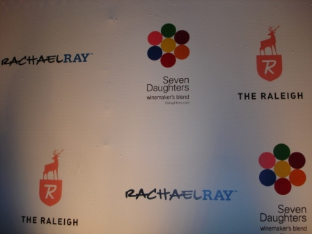 Lighting, step and repeat, with Rachel Ray, at Raleigh Hotel, Miami Beach, FL