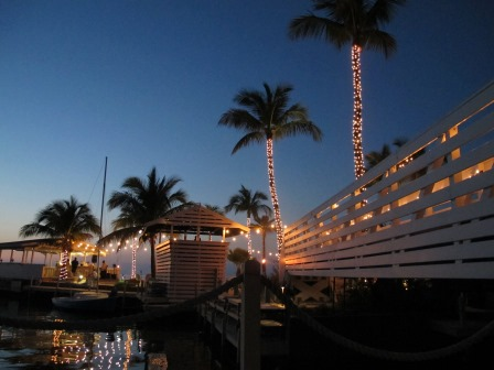 Lighting, bistro-string, wedding, at Casa Morada Resort, Islamorada, FL