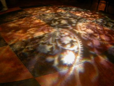 Decoration gobo lighting, textural, at China Grill Restaurant, Miami Beach, FL