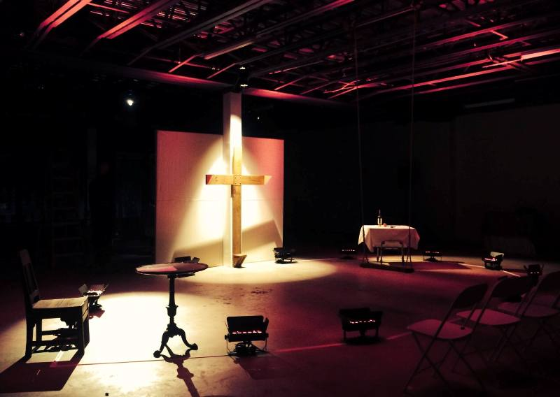 Lighting, stage, theatrical, 'Genus Genet', Moore Furniture Building, Miami, FL