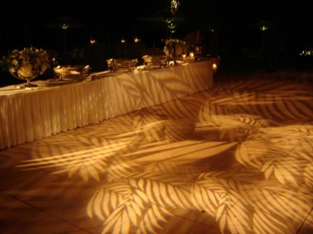Lighting, buffet, wedding, at Port Royal Club, Naples, FL