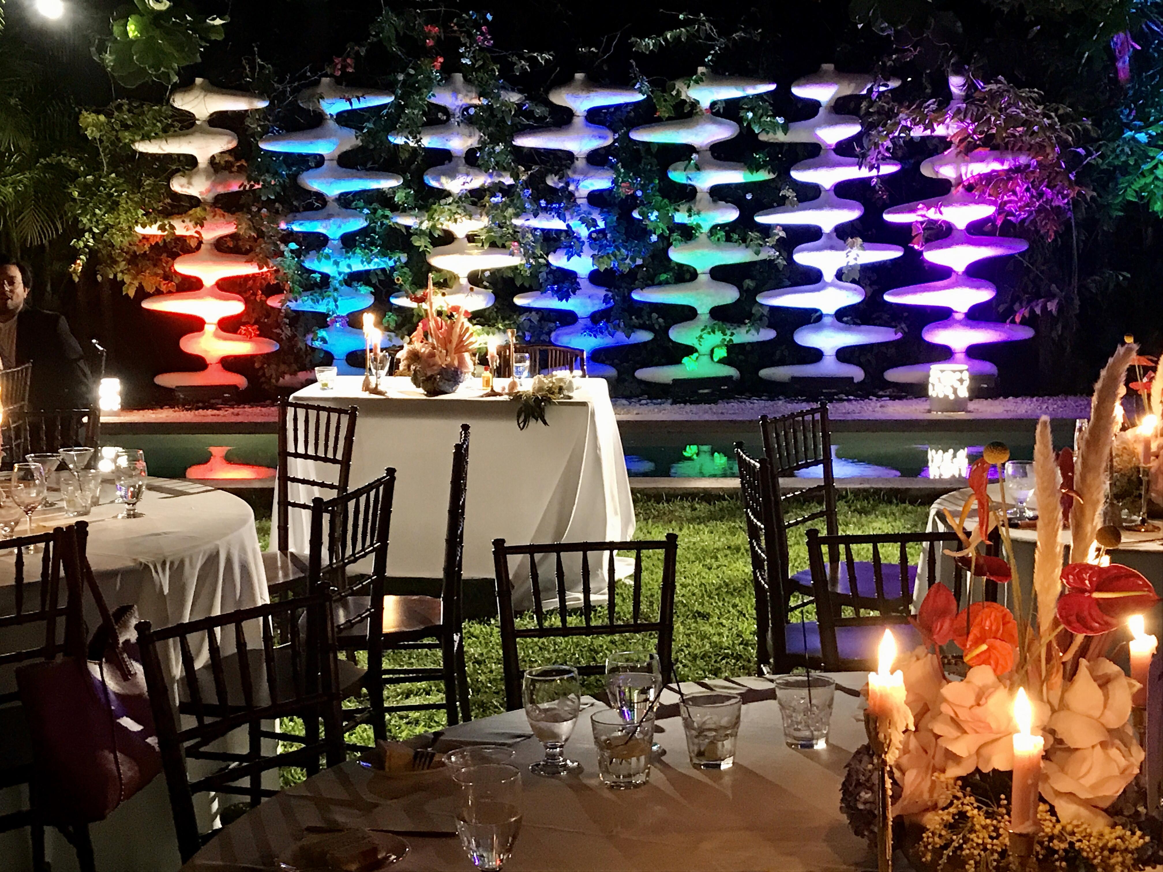 Lighting, wedding, newlywed table, The M Building Wynwood, Miami, FL