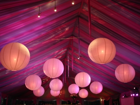 Lighting, baby shower, private residence, Miami Beach, FL
