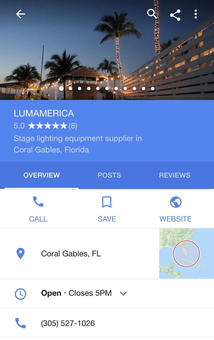 Google Maps | LUMAMERICA | Reviews