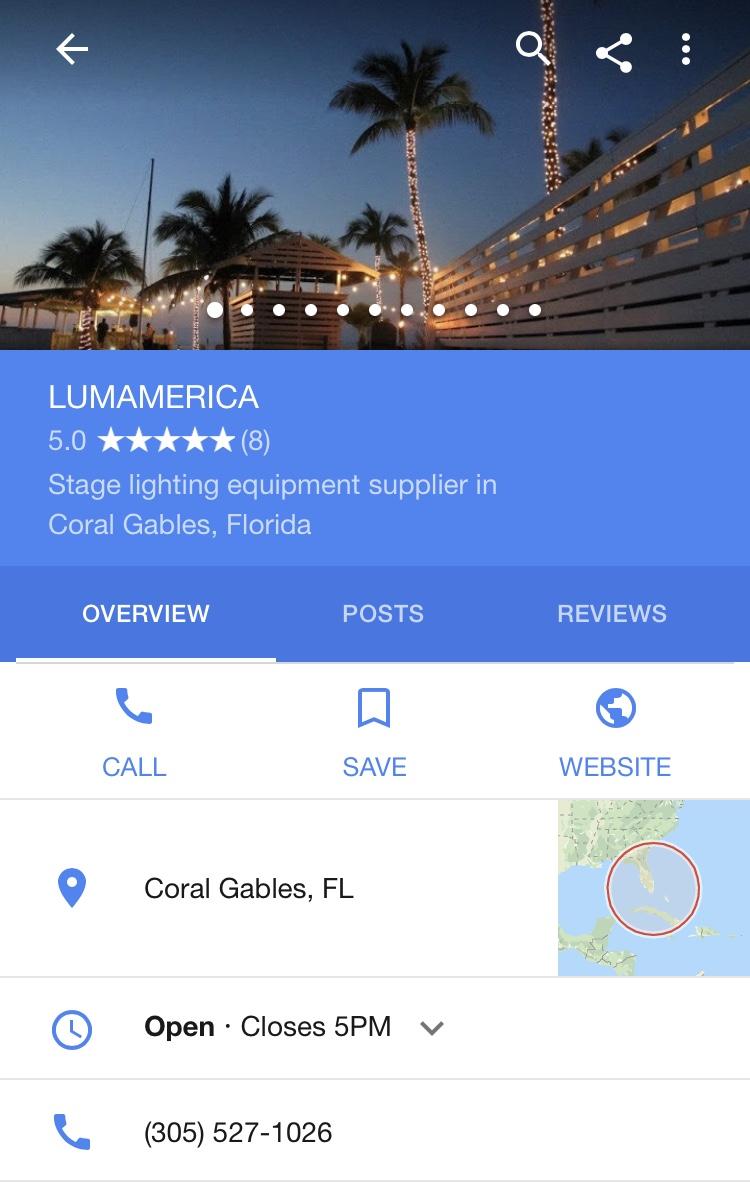 Google Maps | LUMAMERICA | Reviews