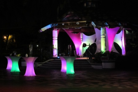 LED wireless lighting, at Caribe Arts Fest, Riverfront, Ft Lauderdale, FL